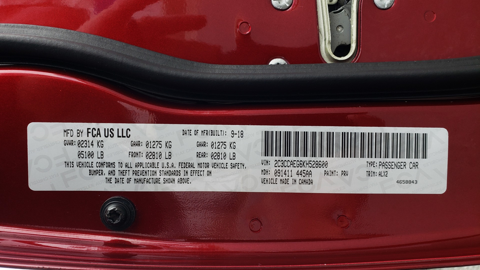 Used 2019 Chrysler 300 LIMITED / 3.6L V6 / 8-SPD AUTO / LEATHER / REARVIEW for sale Sold at Formula Imports in Charlotte NC 28227 90