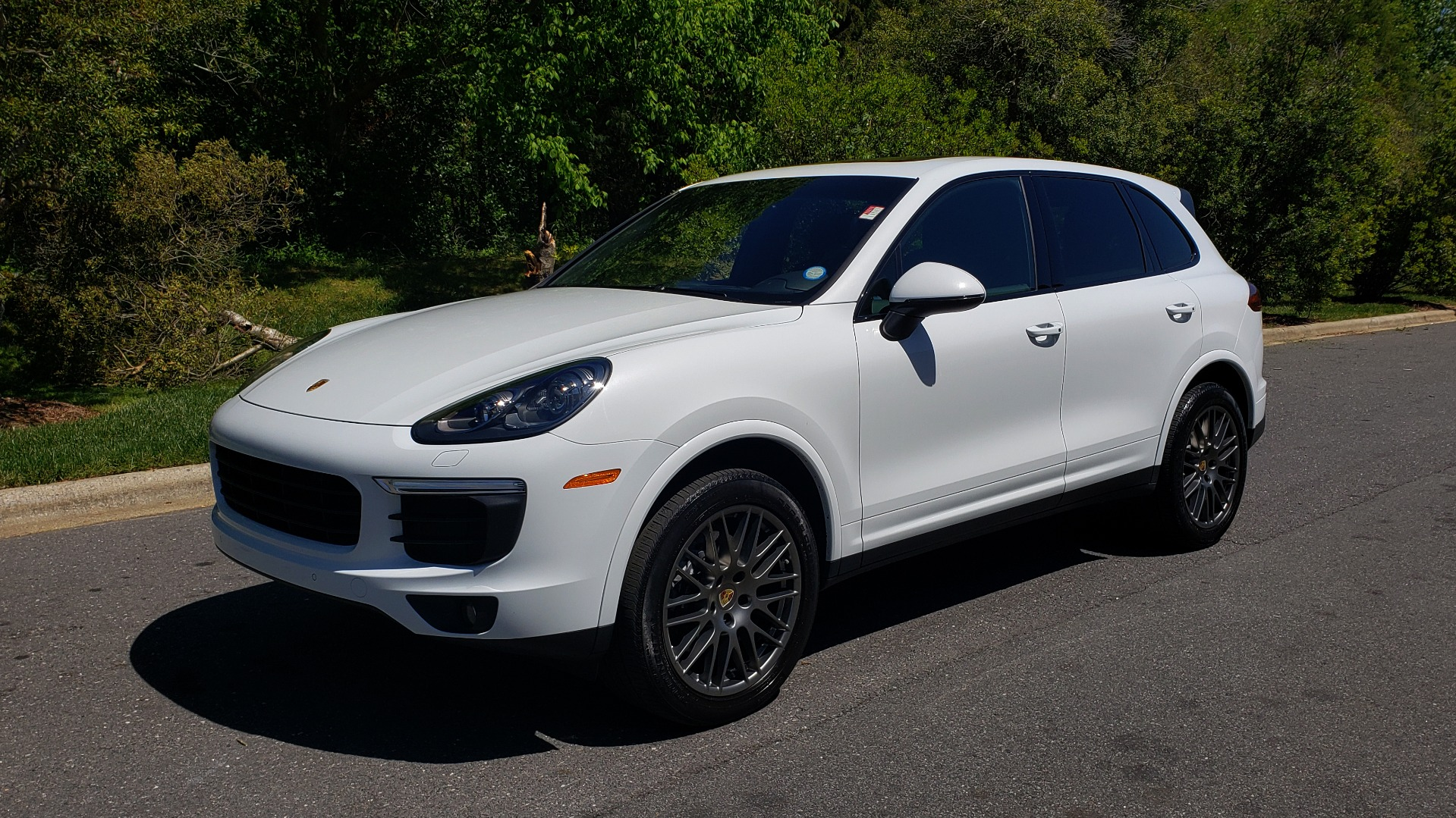 Used 2017 Porsche Cayenne Platinum Edition for sale Sold at Formula Imports in Charlotte NC 28227 1
