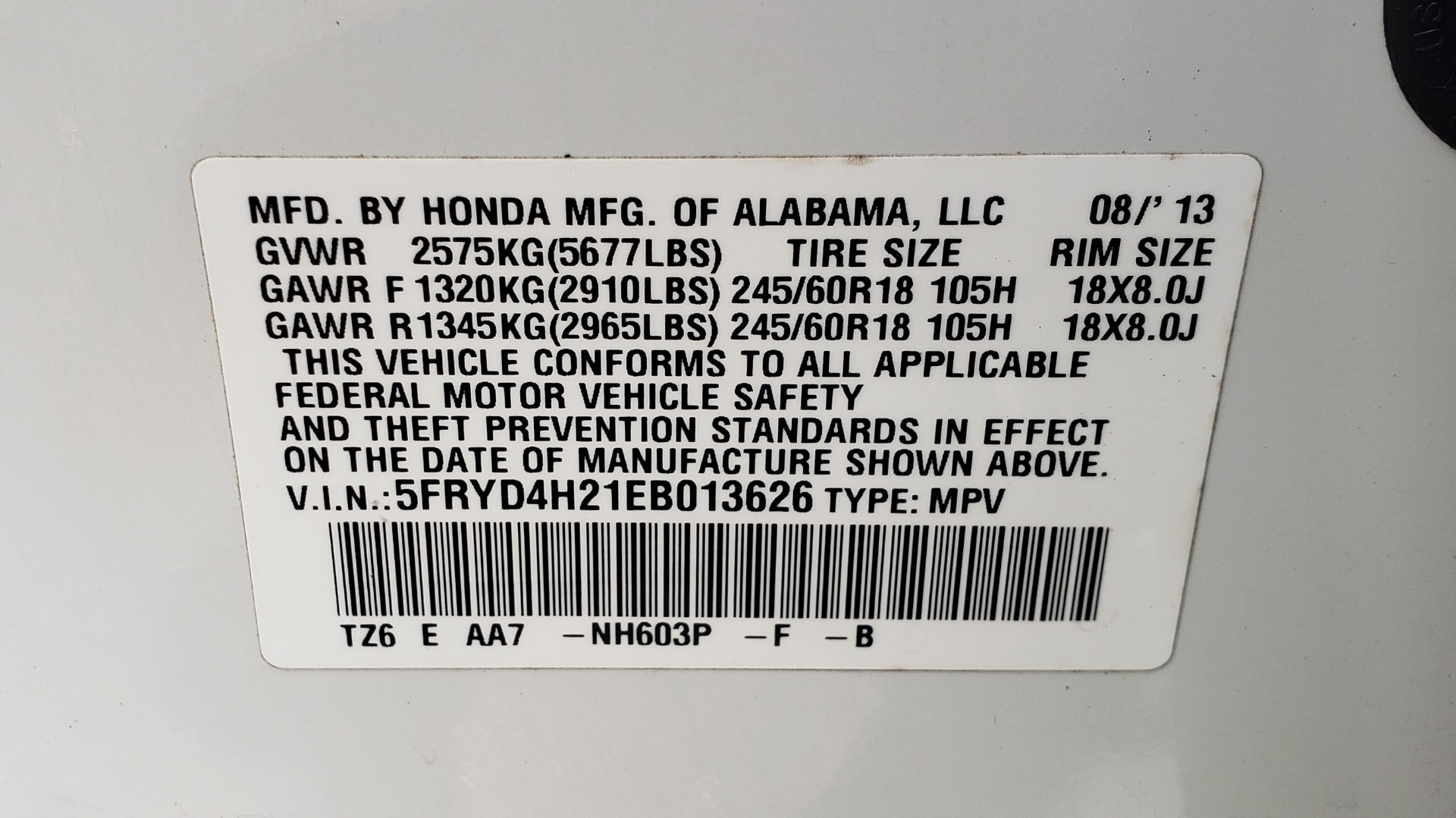Used 2014 Acura MDX AWD / NAV / SUNROOF / 3-ROW / REARVIEW / PREMIUM SND for sale Sold at Formula Imports in Charlotte NC 28227 96