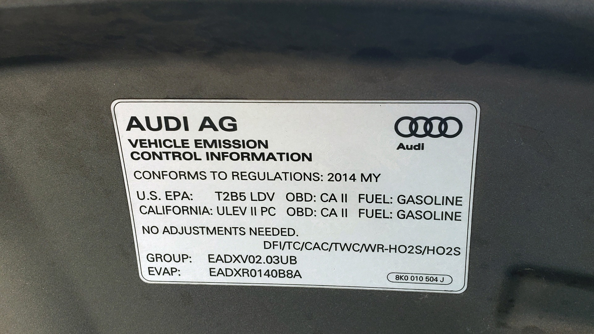 New 2014 Audi A4 PREMIUM / MULTITRONIC / FWD / SUNROOF / AUTO CLIMATE for sale Sold at Formula Imports in Charlotte NC 28227 13