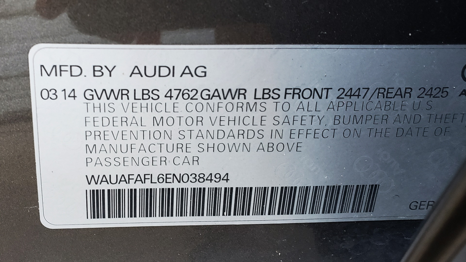 New 2014 Audi A4 PREMIUM / MULTITRONIC / FWD / SUNROOF / AUTO CLIMATE for sale Sold at Formula Imports in Charlotte NC 28227 82