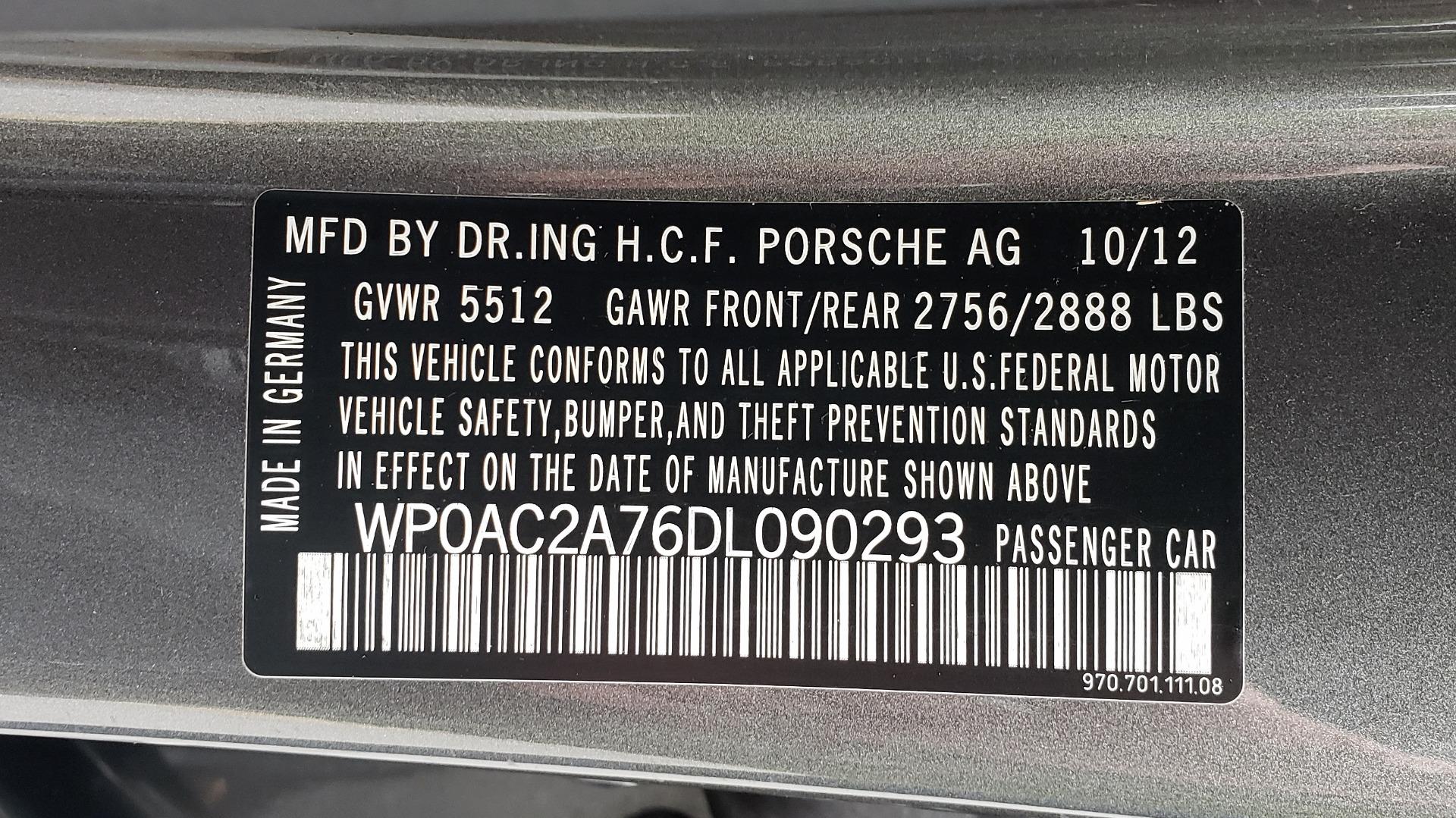 Used 2013 Porsche PANAMERA TURBO 4.8L V8 / AWD / NAV / SUNROOF / LCA / PARK ASST / BURMESTER for sale $45,995 at Formula Imports in Charlotte NC 28227 98