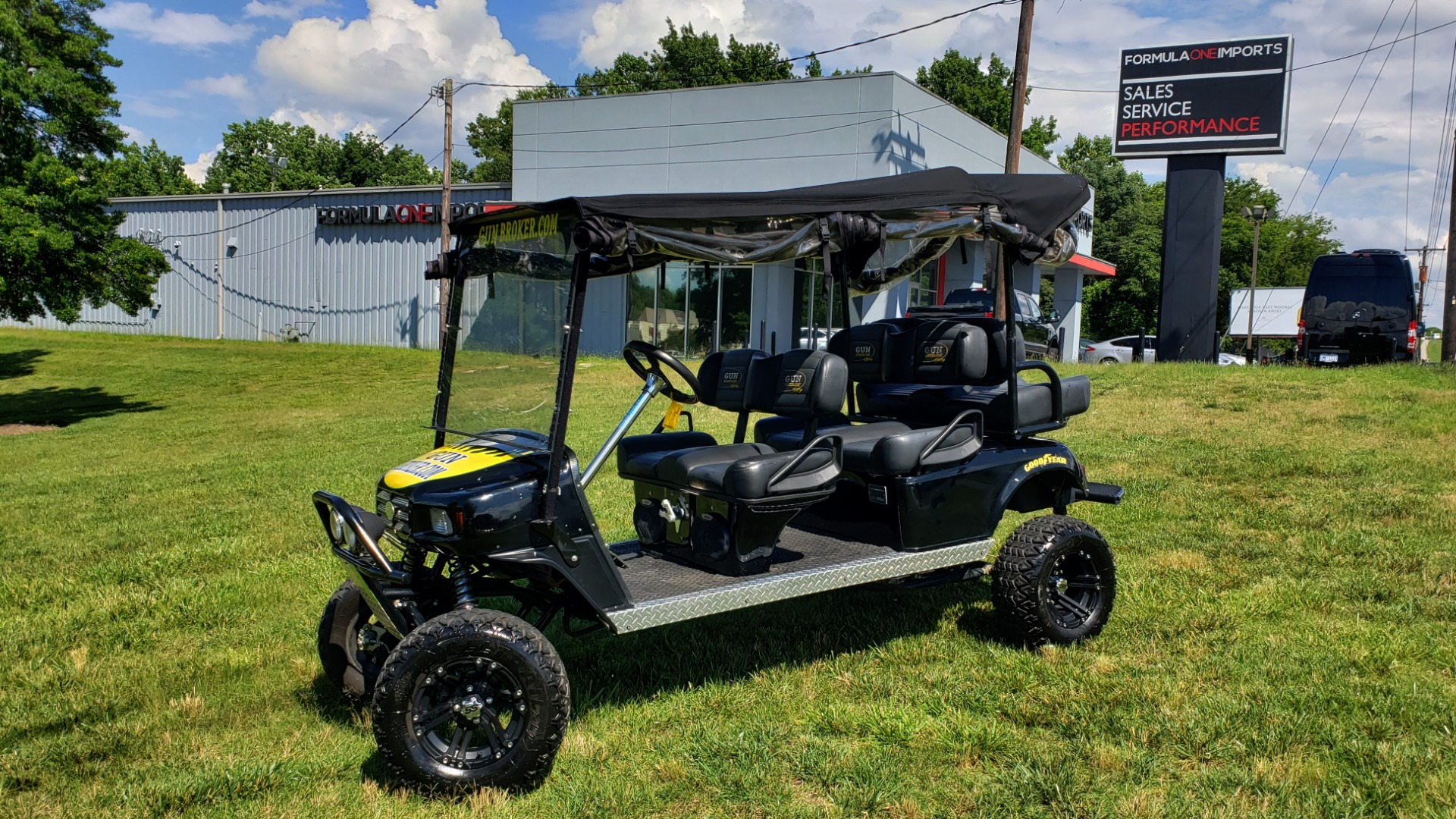 Used 2010 E-Z-GO GOLF CART 24HP / 3-ROW SEATING FOR 6 / SUSPENSION LIFT / SONY STEREO for sale $16,995 at Formula Imports in Charlotte NC 28227 1