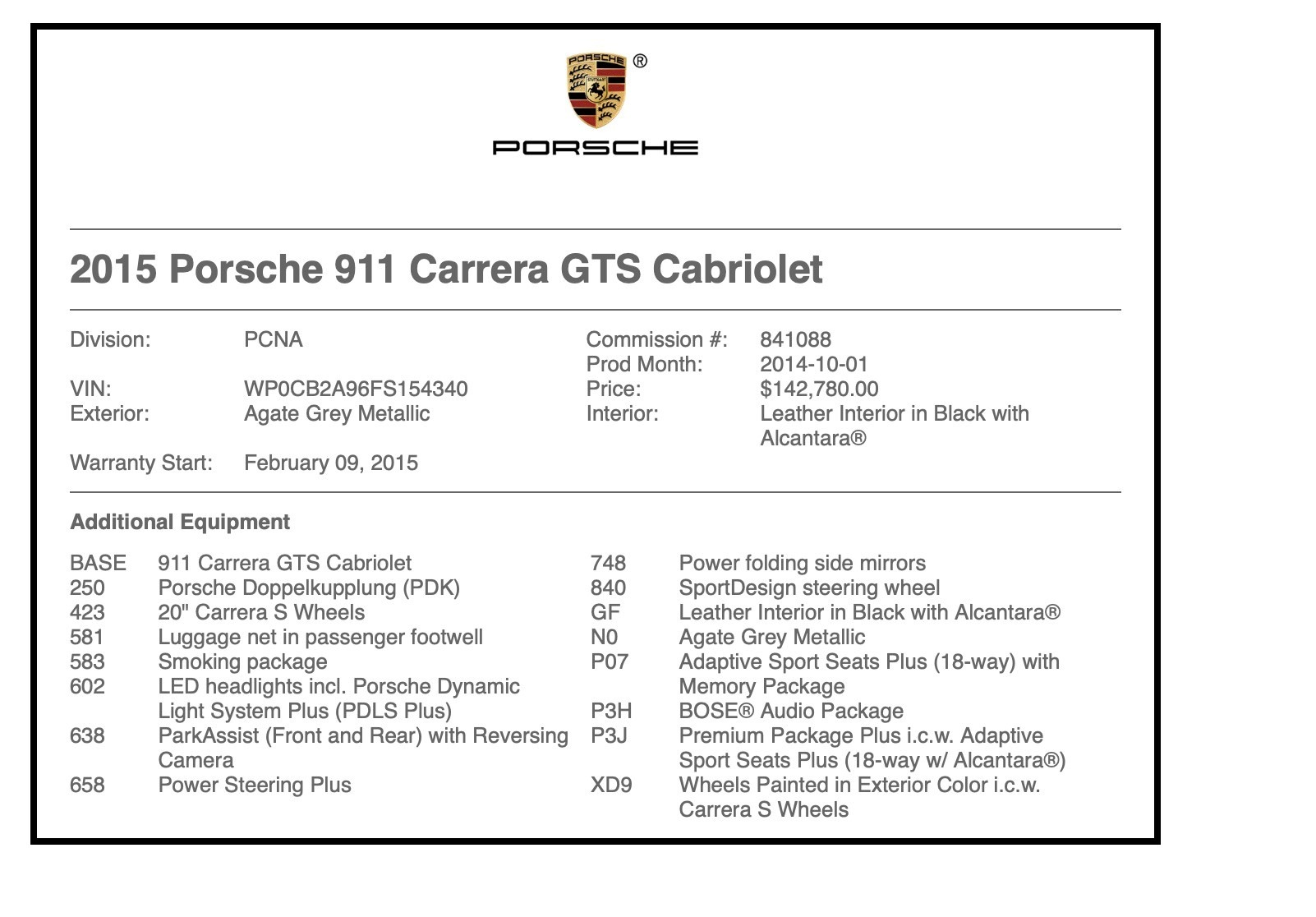 Used 2015 Porsche 911 CARRERA GTS / CONVERTIBLE / NAV / CHRONO / BOSE / REARVIEW for sale Sold at Formula Imports in Charlotte NC 28227 73