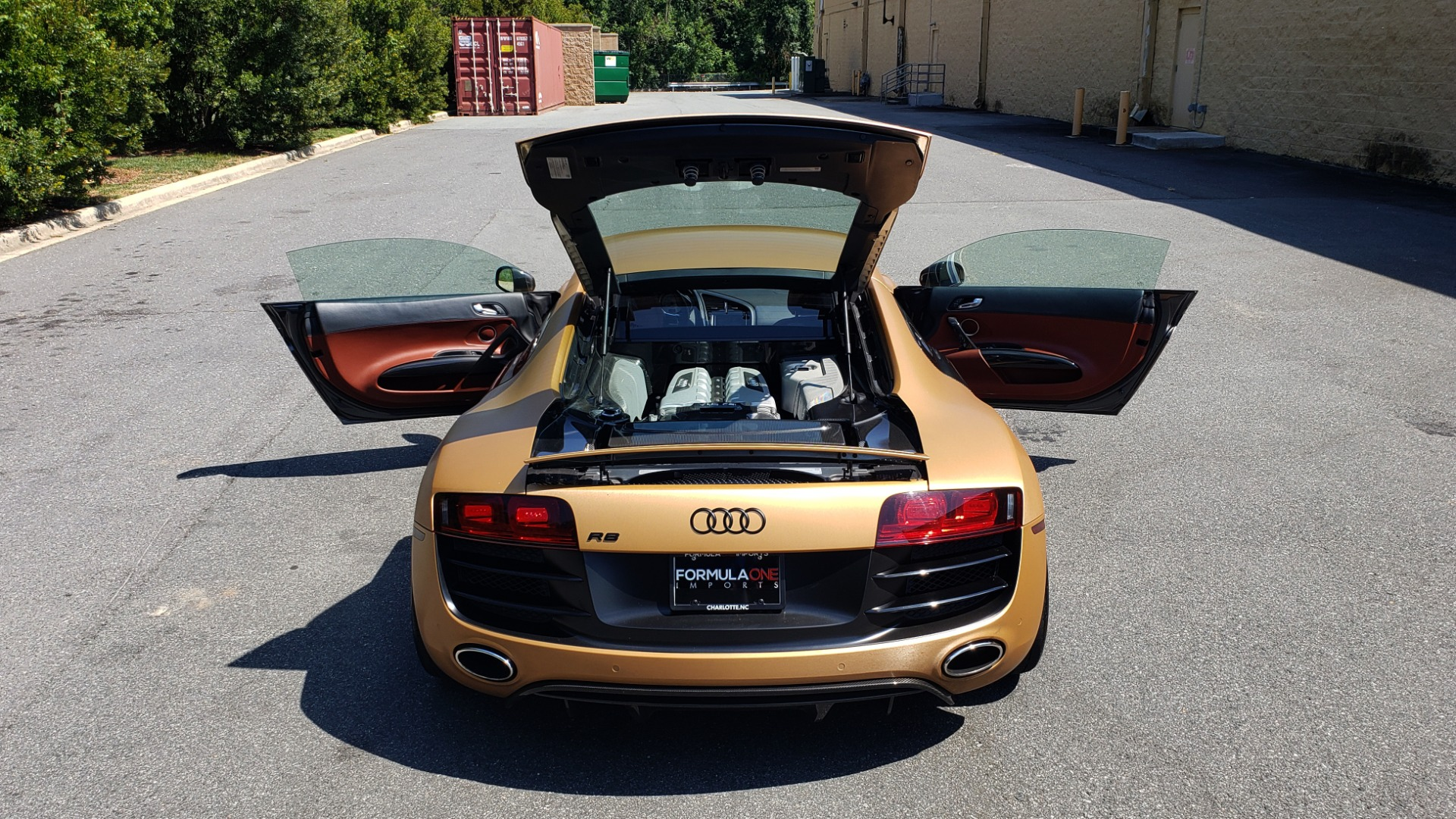 Used 2012 Audi R8 V10 5.2L / CUST WRAP BRUSHED BRONZE / NAV / B&O SOUND / CUST 19IN WHLS for sale $79,999 at Formula Imports in Charlotte NC 28227 13