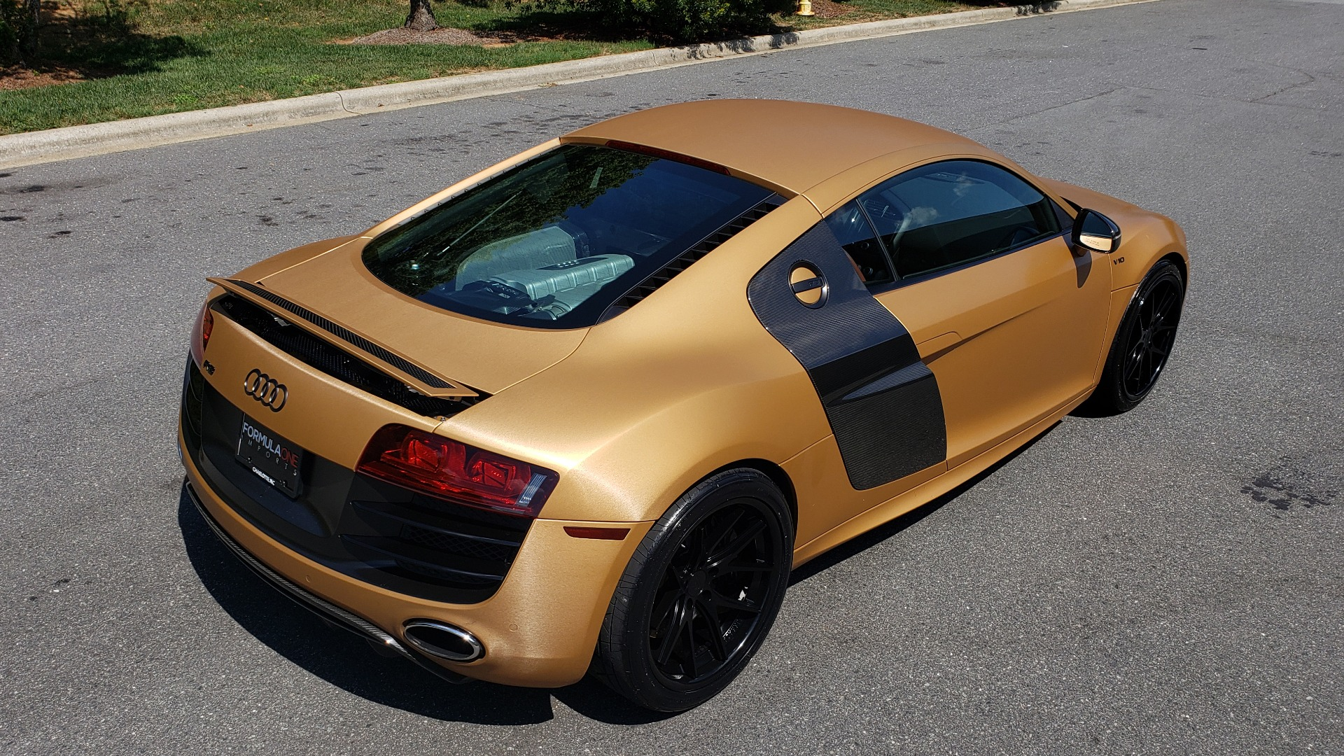 Used 2012 Audi R8 V10 5.2L / CUST WRAP BRUSHED BRONZE / NAV / B&O SOUND / CUST 19IN WHLS for sale $79,999 at Formula Imports in Charlotte NC 28227 3