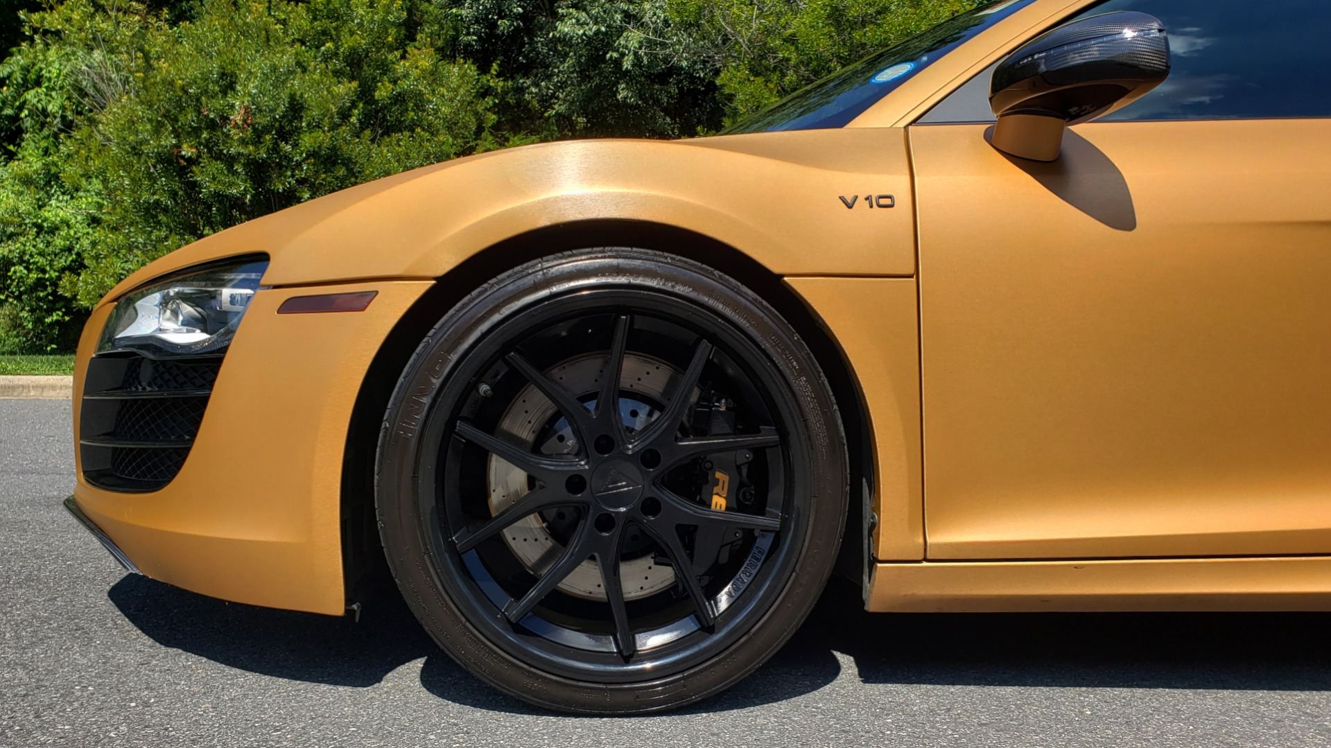 Used 2012 Audi R8 V10 5.2L / CUST WRAP BRUSHED BRONZE / NAV / B&O SOUND / CUST 19IN WHLS for sale $79,999 at Formula Imports in Charlotte NC 28227 64