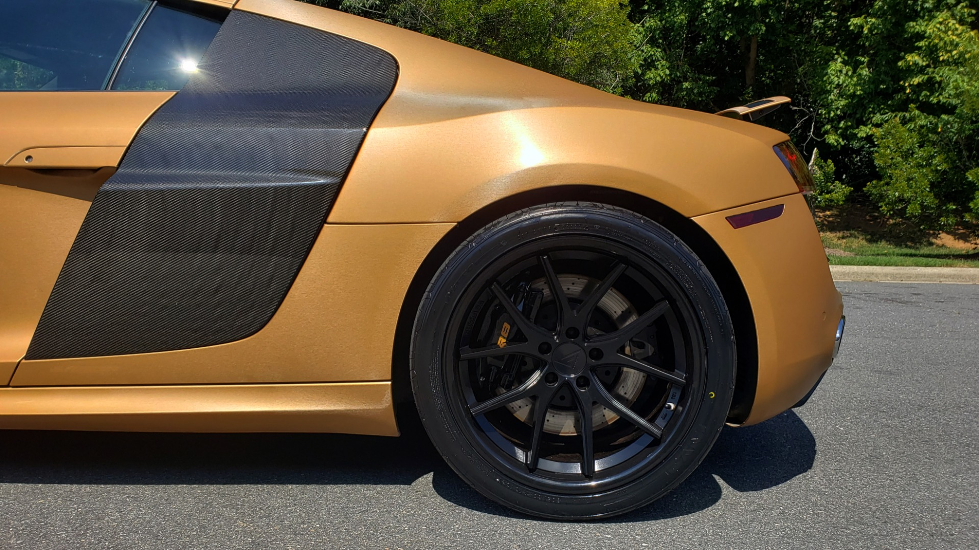 Used 2012 Audi R8 V10 5.2L / CUST WRAP BRUSHED BRONZE / NAV / B&O SOUND / CUST 19IN WHLS for sale $79,999 at Formula Imports in Charlotte NC 28227 65