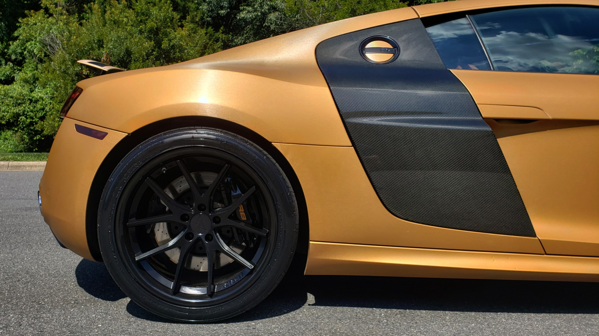 Used 2012 Audi R8 V10 5.2L / CUST WRAP BRUSHED BRONZE / NAV / B&O SOUND / CUST 19IN WHLS for sale $79,999 at Formula Imports in Charlotte NC 28227 66