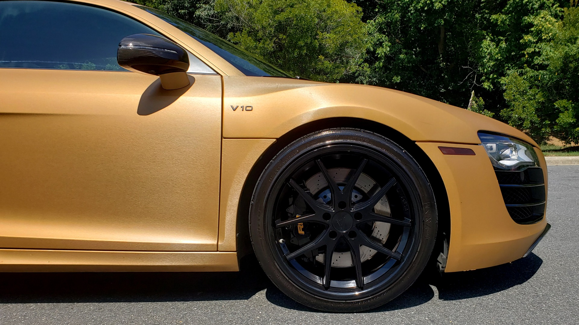 Used 2012 Audi R8 V10 5.2L / CUST WRAP BRUSHED BRONZE / NAV / B&O SOUND / CUST 19IN WHLS for sale $79,999 at Formula Imports in Charlotte NC 28227 67
