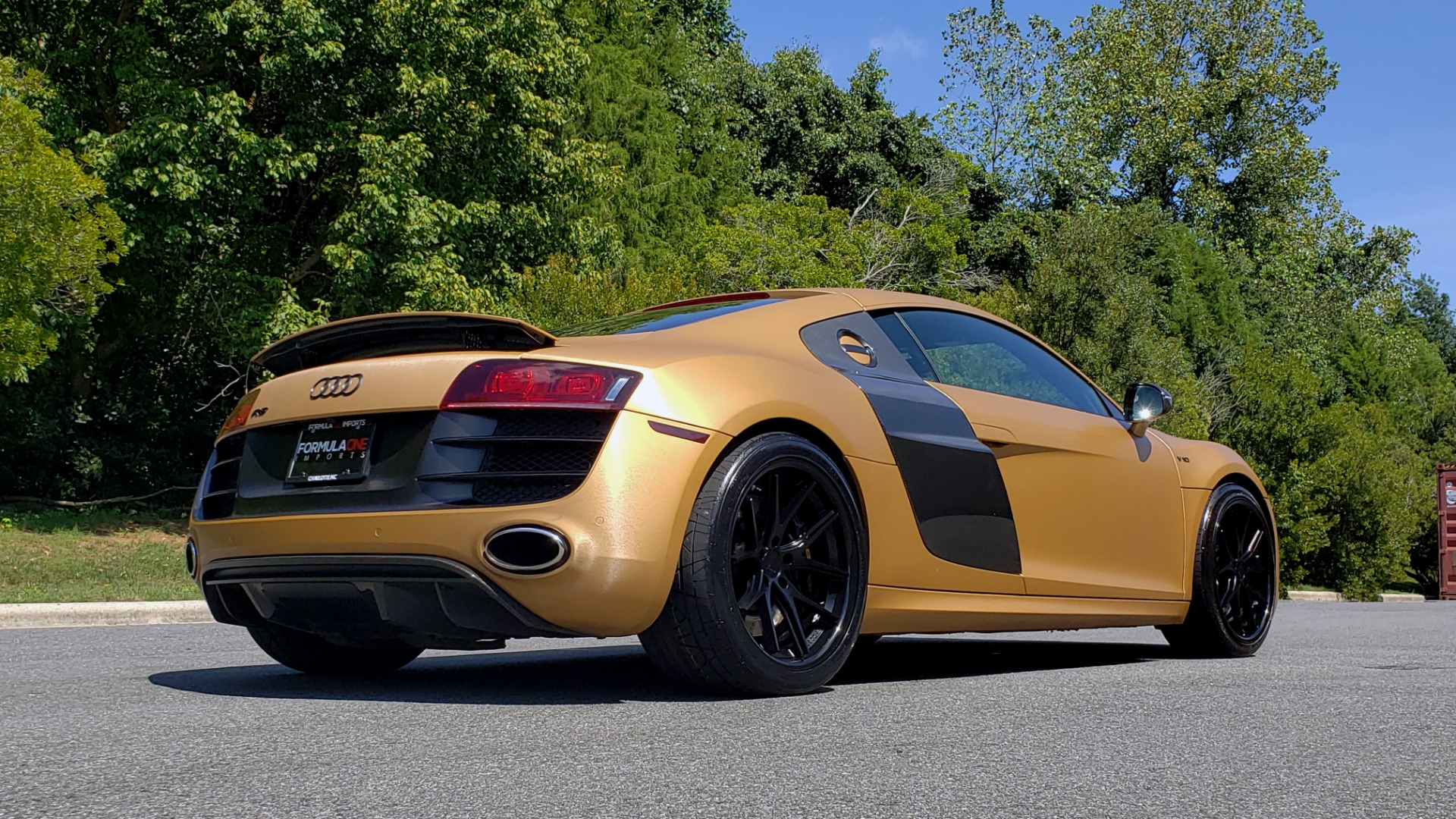 Used 2012 Audi R8 V10 5.2L / CUST WRAP BRUSHED BRONZE / NAV / B&O SOUND / CUST 19IN WHLS for sale $79,999 at Formula Imports in Charlotte NC 28227 8