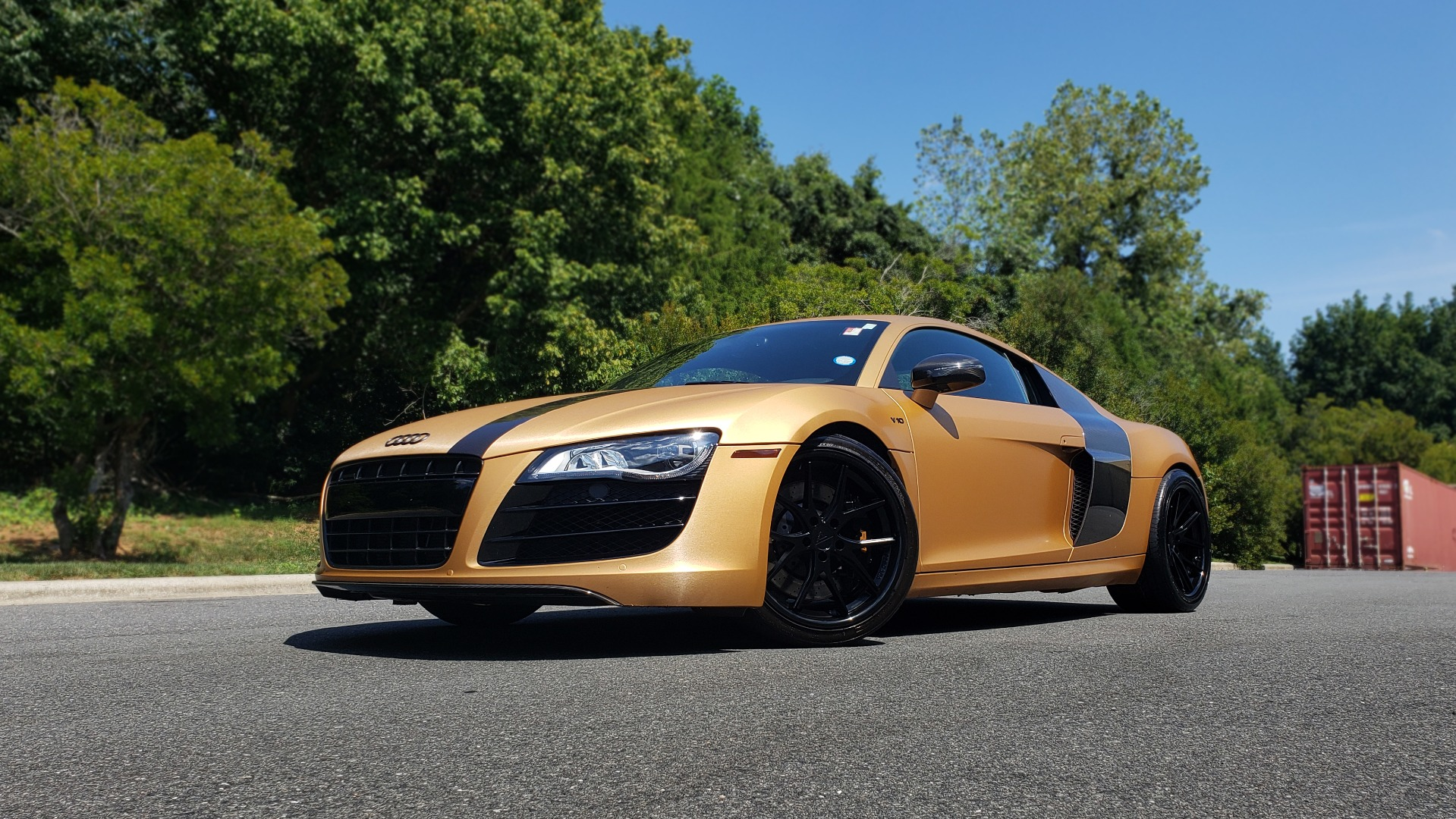 Used 2012 Audi R8 V10 5.2L / CUST WRAP BRUSHED BRONZE / NAV / B&O SOUND / CUST 19IN WHLS for sale $79,999 at Formula Imports in Charlotte NC 28227 1