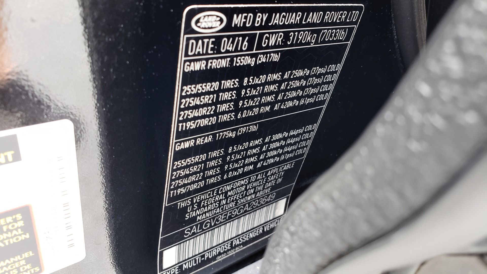 Used 2016 Land Rover RANGE ROVER AUTOBIOGRAPHY / SC-V8 / LWB / PANO-ROOF / NAV / MERIDIAN / ENT / REARVIEW for sale Sold at Formula Imports in Charlotte NC 28227 111
