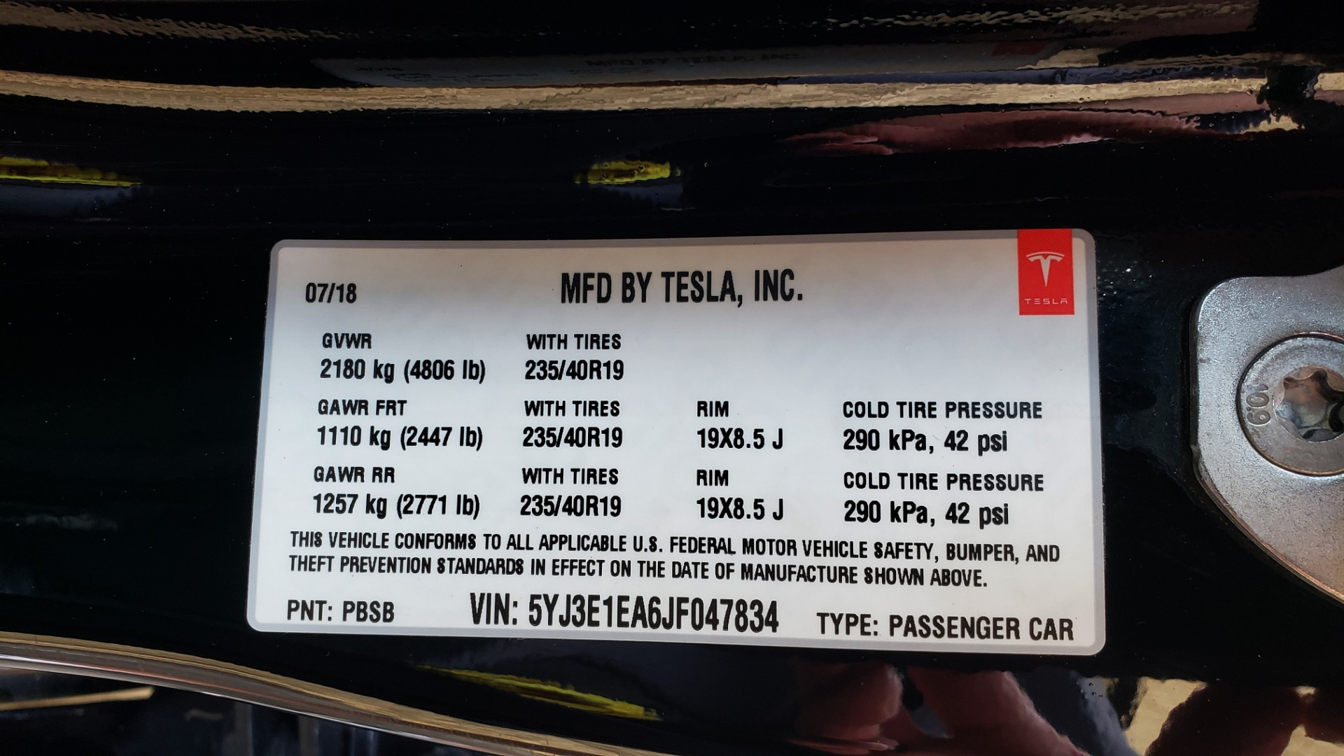 Used 2018 Tesla MODEL 3 LONG RANGE BATTERY / NAV / GLASS ROOF / REARVIEW for sale Sold at Formula Imports in Charlotte NC 28227 82