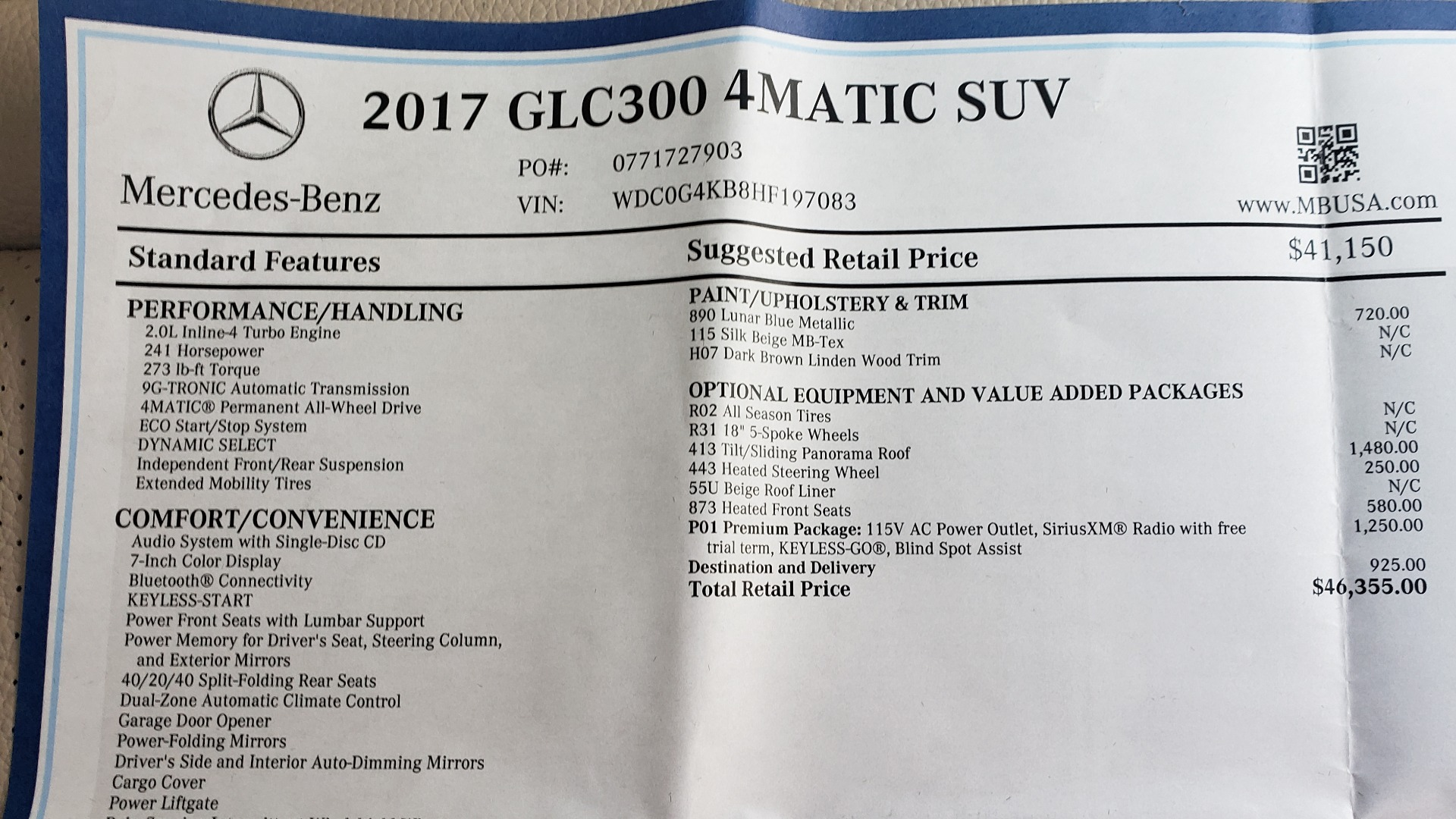 Used 2017 Mercedes-Benz GLC 300 4MATIC / PREM / NAV / KEYLESS-GO / SUNROOF / REARVIEW for sale Sold at Formula Imports in Charlotte NC 28227 82