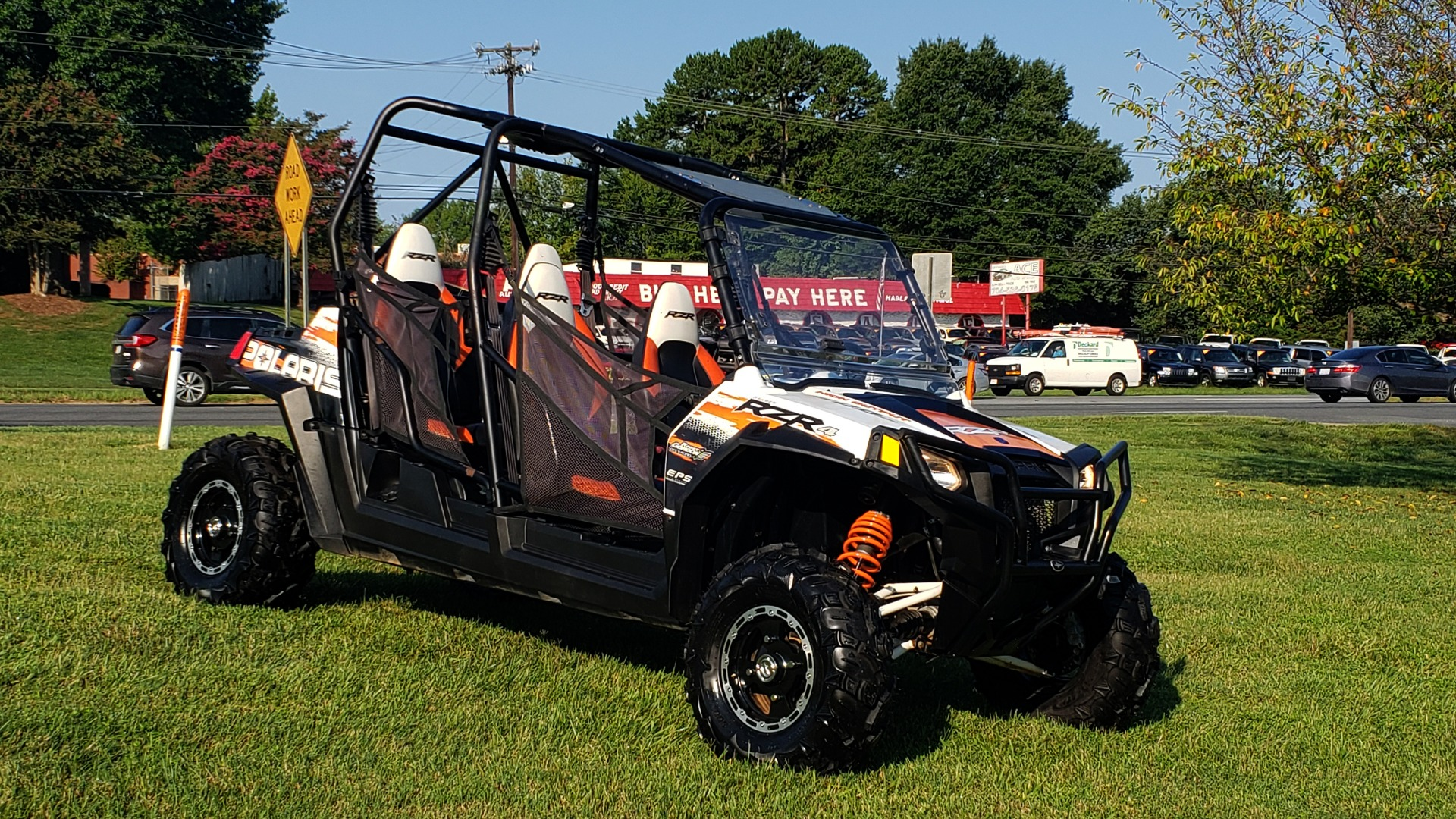 Used 2012 POLARIS RANGER RZR4 / HO 800 EFI / IPHONE CONNECT / SPEAKERS / NEW TIRES for sale Sold at Formula Imports in Charlotte NC 28227 8