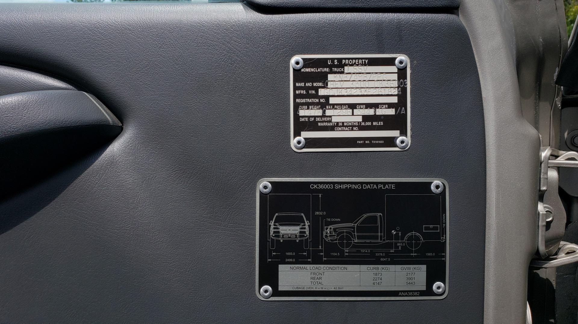 Used 2005 Chevrolet SILVERADO 3500 DRW / 4WD / REG CAB / 6.6L DURAMAX / DOOMSDAY PREPPER for sale $21,595 at Formula Imports in Charlotte NC 28227 31