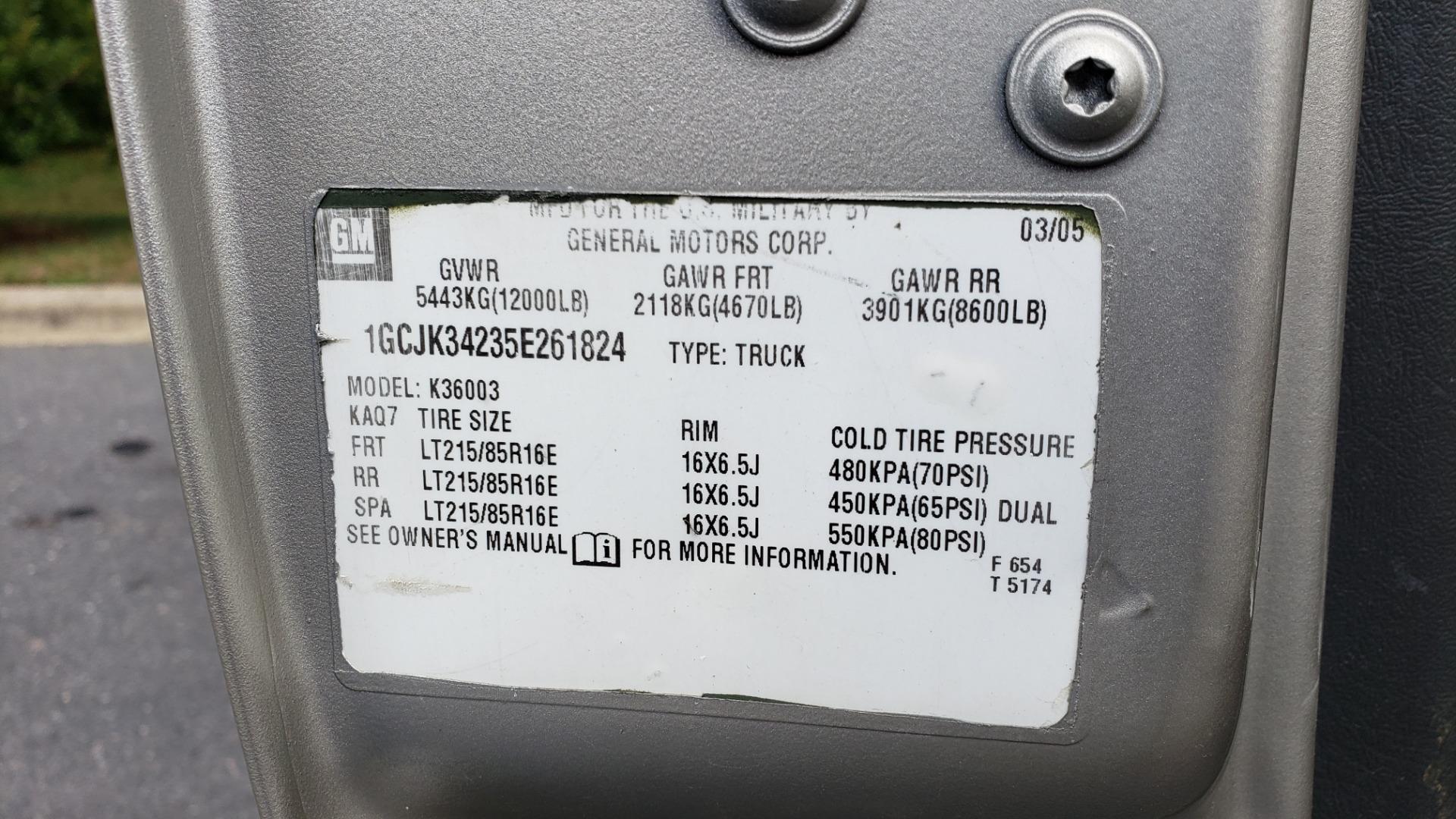 Used 2005 Chevrolet SILVERADO 3500 DRW / 4WD / REG CAB / 6.6L DURAMAX / DOOMSDAY PREPPER for sale $21,595 at Formula Imports in Charlotte NC 28227 73