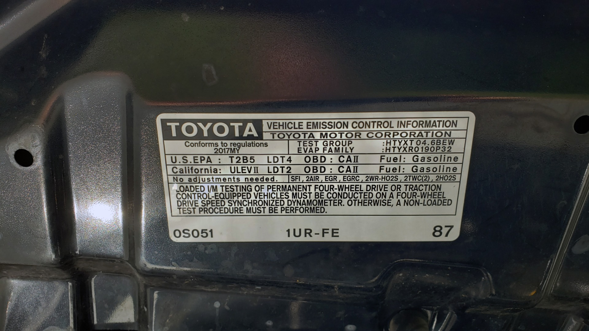 Used 2017 Toyota TUNDRA 4WD SR DOUBLECAB / 4WD / 6.5' BED / V8 / AUTO / REARVIEW for sale Sold at Formula Imports in Charlotte NC 28227 13