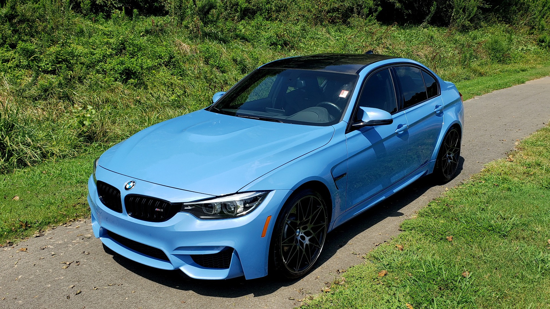 Used 2018 BMW M3 COMPETITION PKG / 6-SPD MANUAL / NAV / CARBON FIBER ROOF / REARVIEW for sale Sold at Formula Imports in Charlotte NC 28227 9