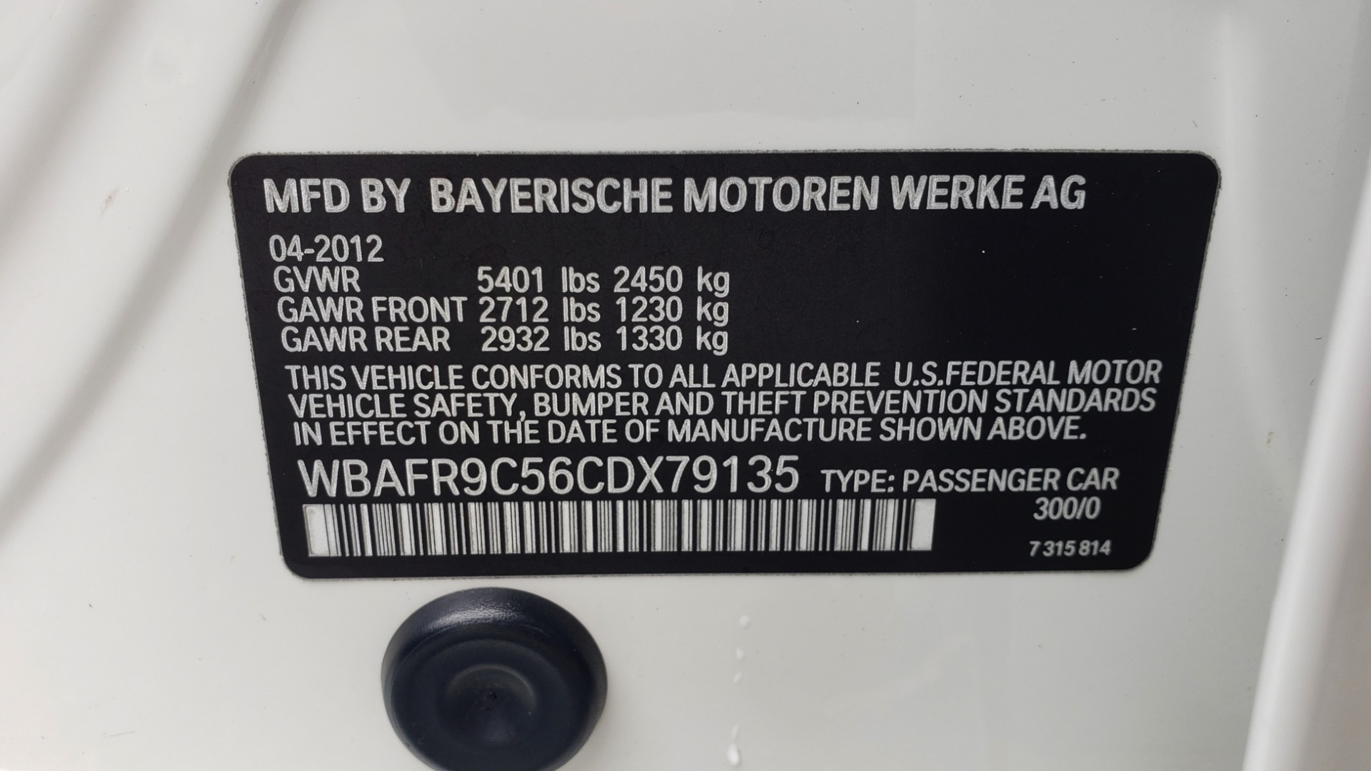 Used 2012 BMW 5 SERIES 550I M SPORT / NAV / CONV PKG / SUNROOF / PREM SND / REARVIEW for sale Sold at Formula Imports in Charlotte NC 28227 79