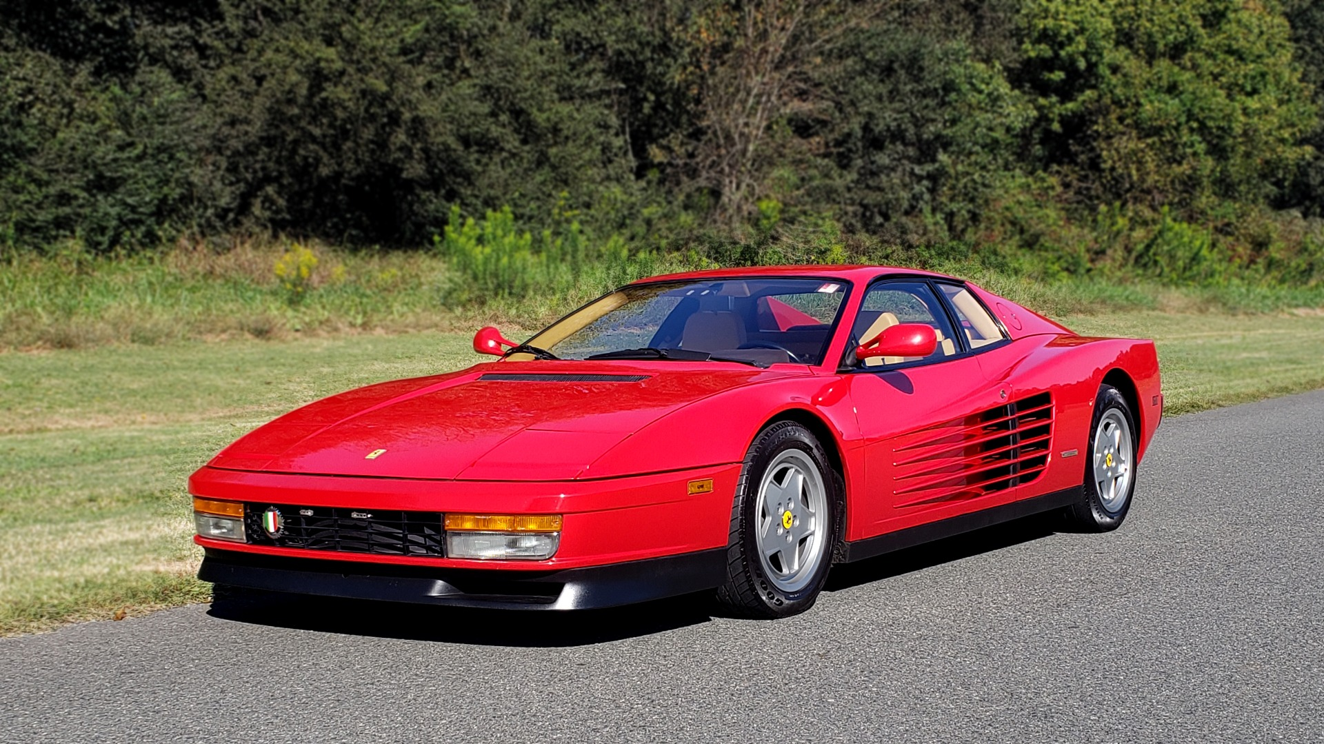 Used 1988 Ferrari TESTAROSSA COUPE / 4.9L FLAT-12 / 5-SPEED MANUAL / LOW MILES SUPER CLEAN for sale $128,999 at Formula Imports in Charlotte NC 28227 1