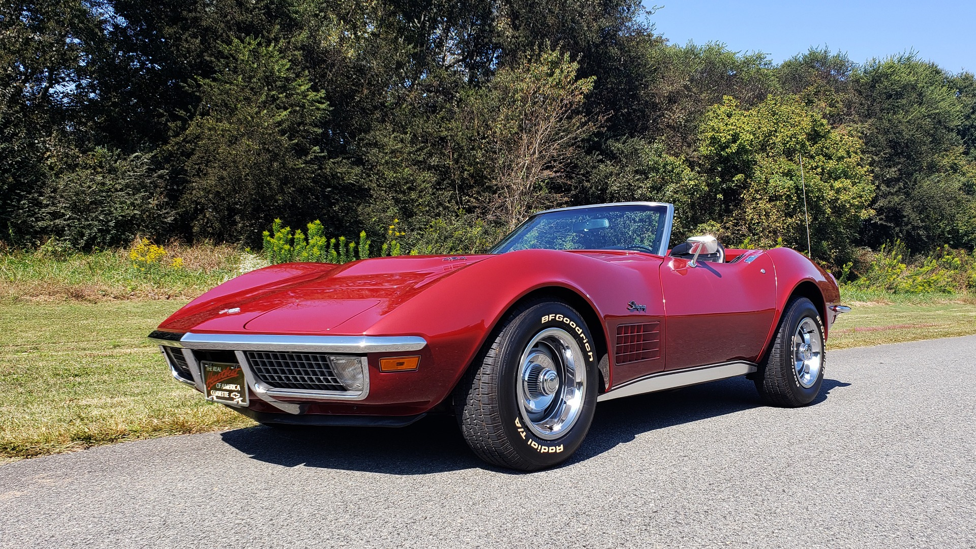 Used 1970 Chevrolet CORVETTE CONVERTIBLE / 454CI V8 / AUTO / NEW BLACK TOP / NUMBERS MATCH for sale $50,499 at Formula Imports in Charlotte NC 28227 1