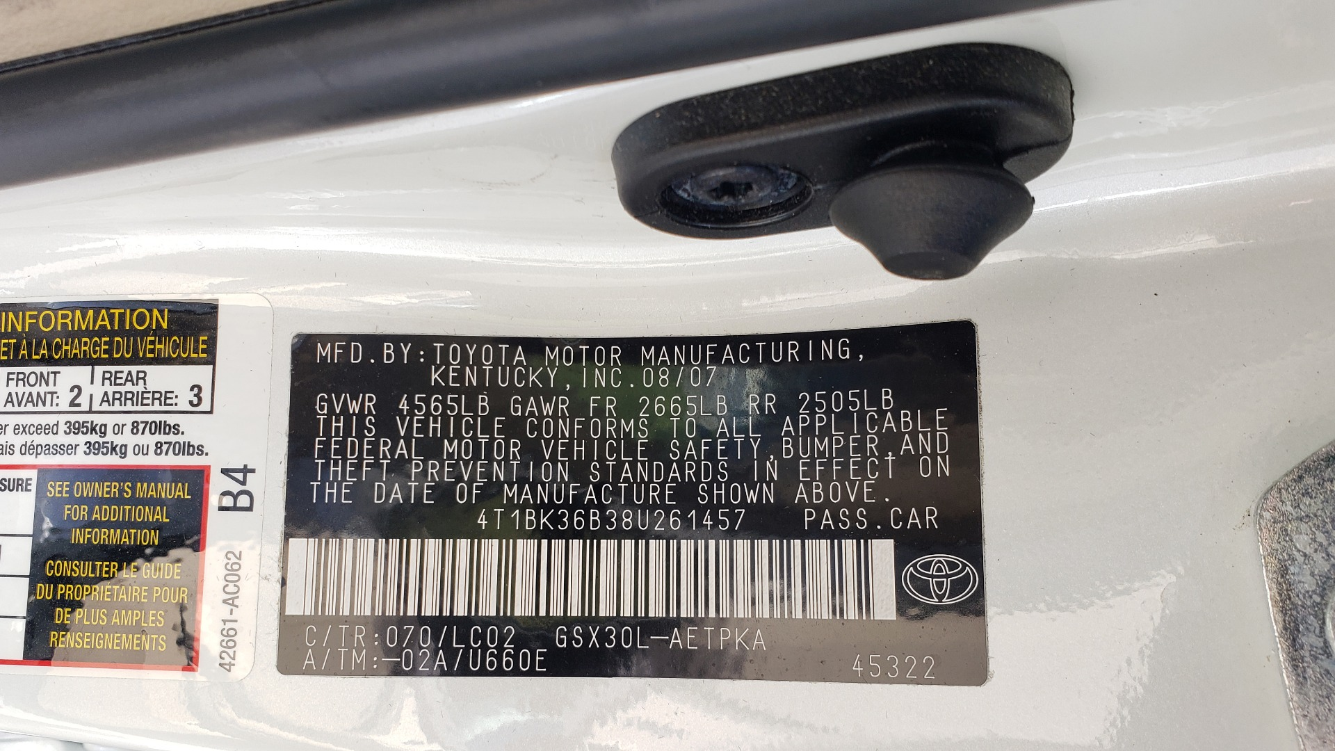 Used 2008 Toyota AVALON LIMITED V6 / FWD / SUNROOF / DYN RADAR CRUISE / BRAKE ASST for sale Sold at Formula Imports in Charlotte NC 28227 85