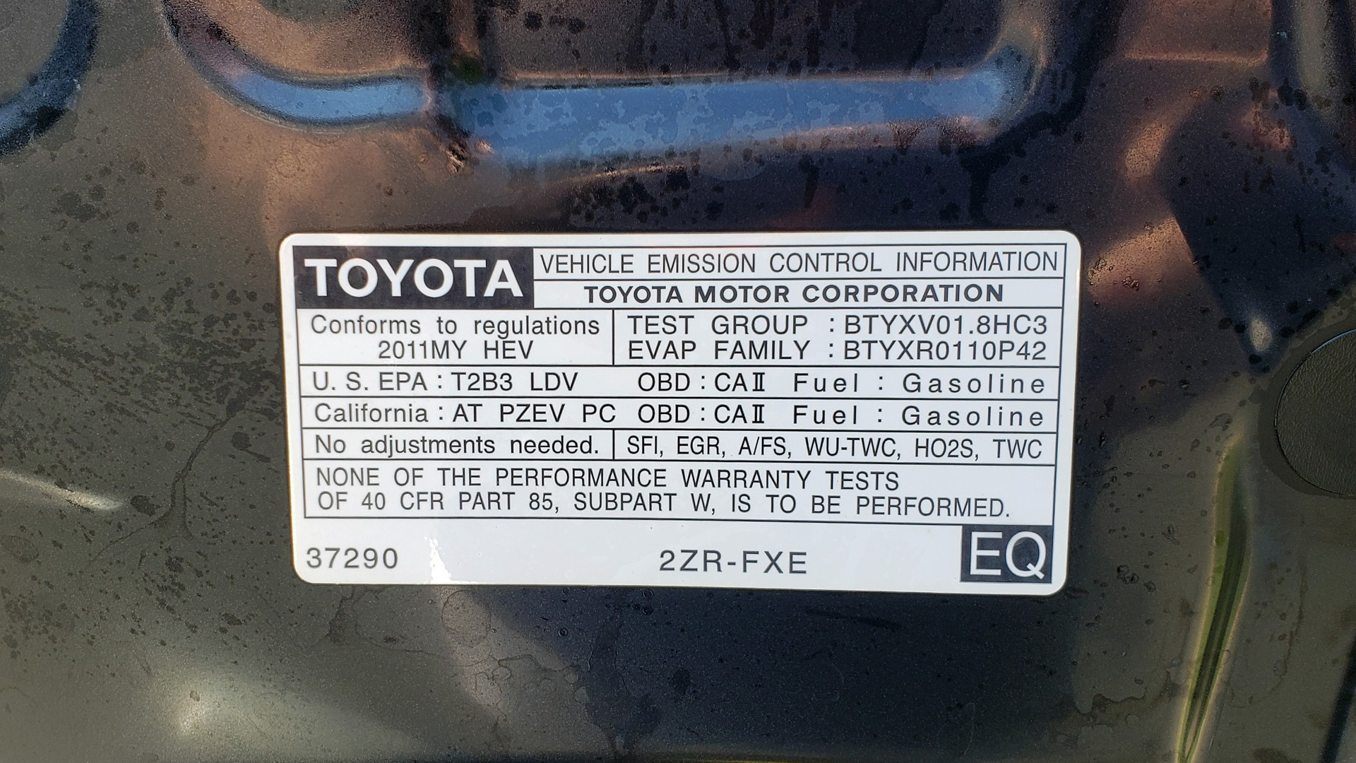 Used 2011 Toyota PRIUS ONE / HYBRID / 5-DOOR / HATCHBACK / 50MPG for sale Sold at Formula Imports in Charlotte NC 28227 11