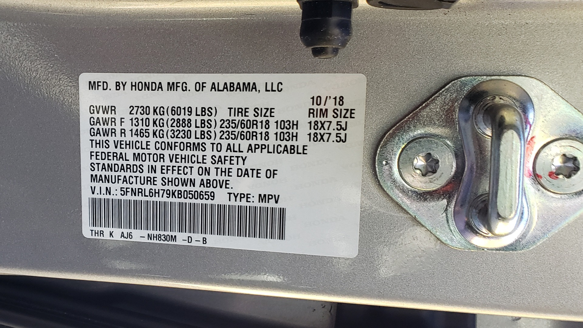 Used 2019 Honda ODYSSEY EX-L BRAUNABILITY / NAV / RES / LKA / BLUE-RAY / SUNROOF / REARVIEW for sale Sold at Formula Imports in Charlotte NC 28227 69