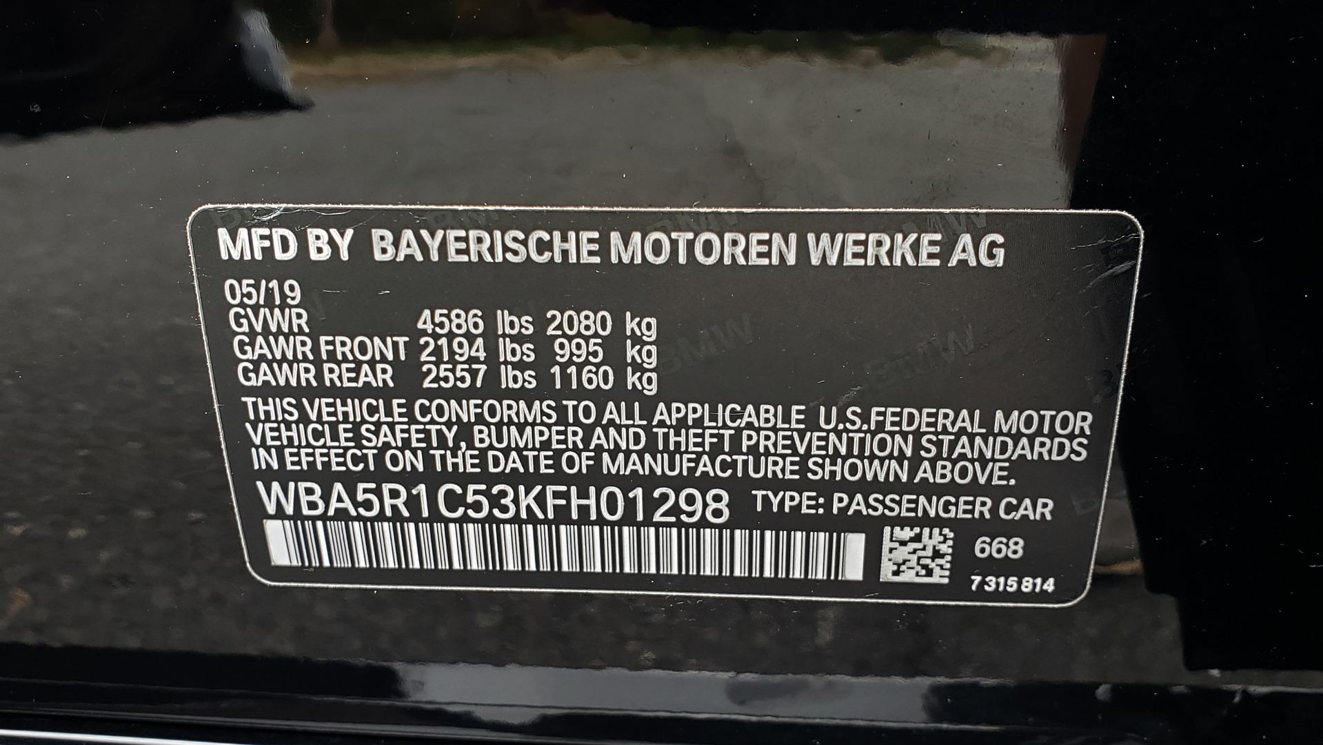 Used 2019 BMW 3 SERIES 330I PREM PKG / NAV / CONV PKG / H&K SND / LIVE COCKPIT PRO for sale Sold at Formula Imports in Charlotte NC 28227 91
