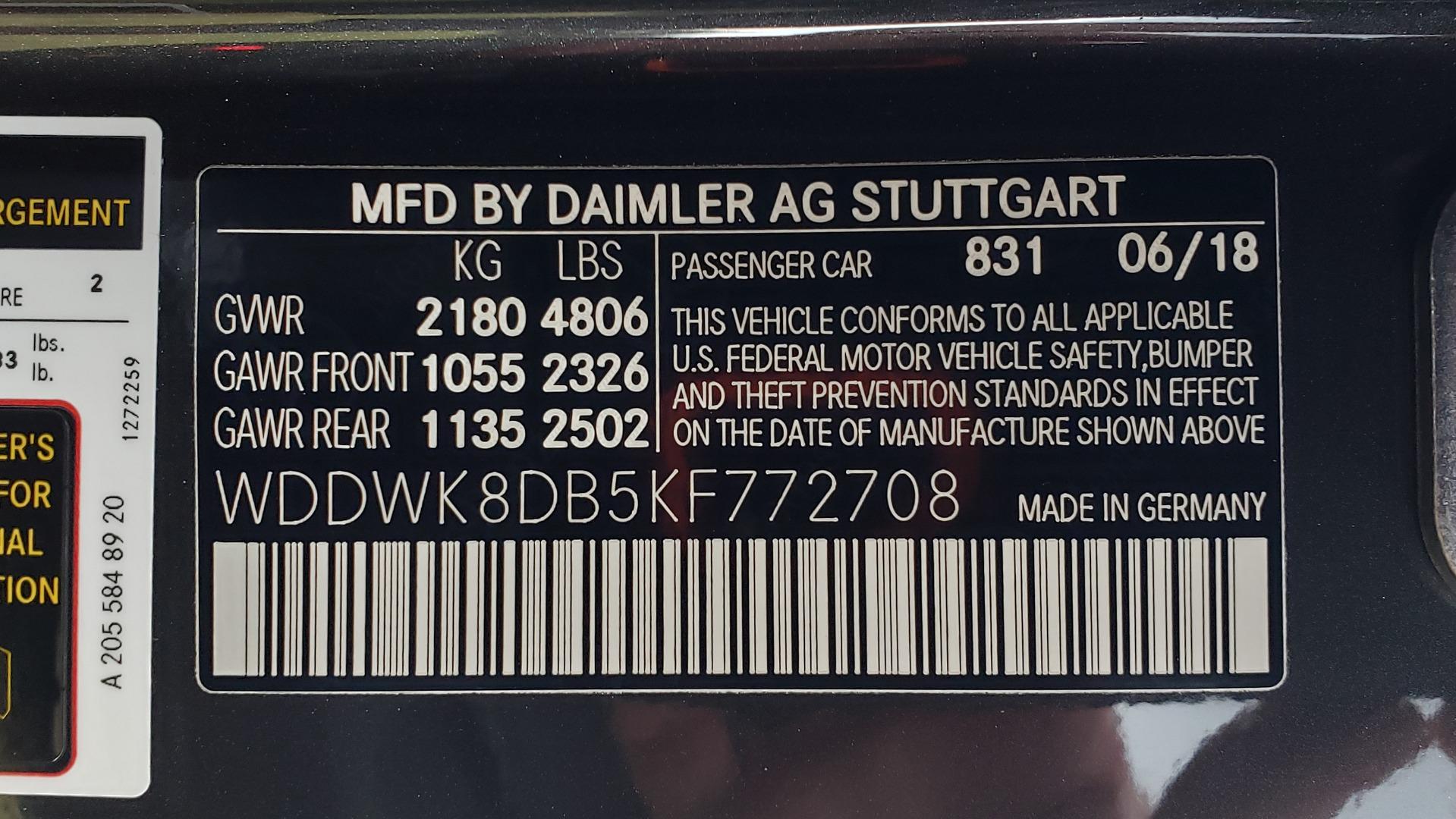Used 2019 Mercedes-Benz C-CLASS C 300 CABRIOLET / PREM PKG / NAV / BURMESTER / MULTIMEDIA for sale Sold at Formula Imports in Charlotte NC 28227 94