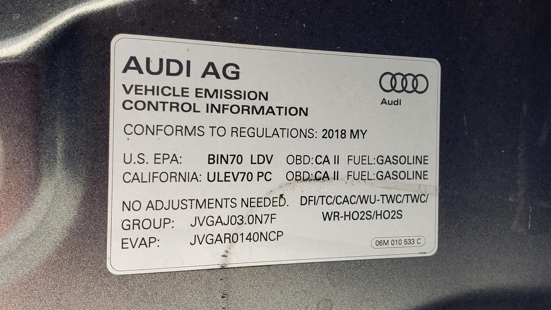 Used 2018 Audi S5 SPORTBACK PRESTIGE S-SPORT / NAV / SUNROOF / HUD / B&O SND / REARVIEW for sale $48,995 at Formula Imports in Charlotte NC 28227 16