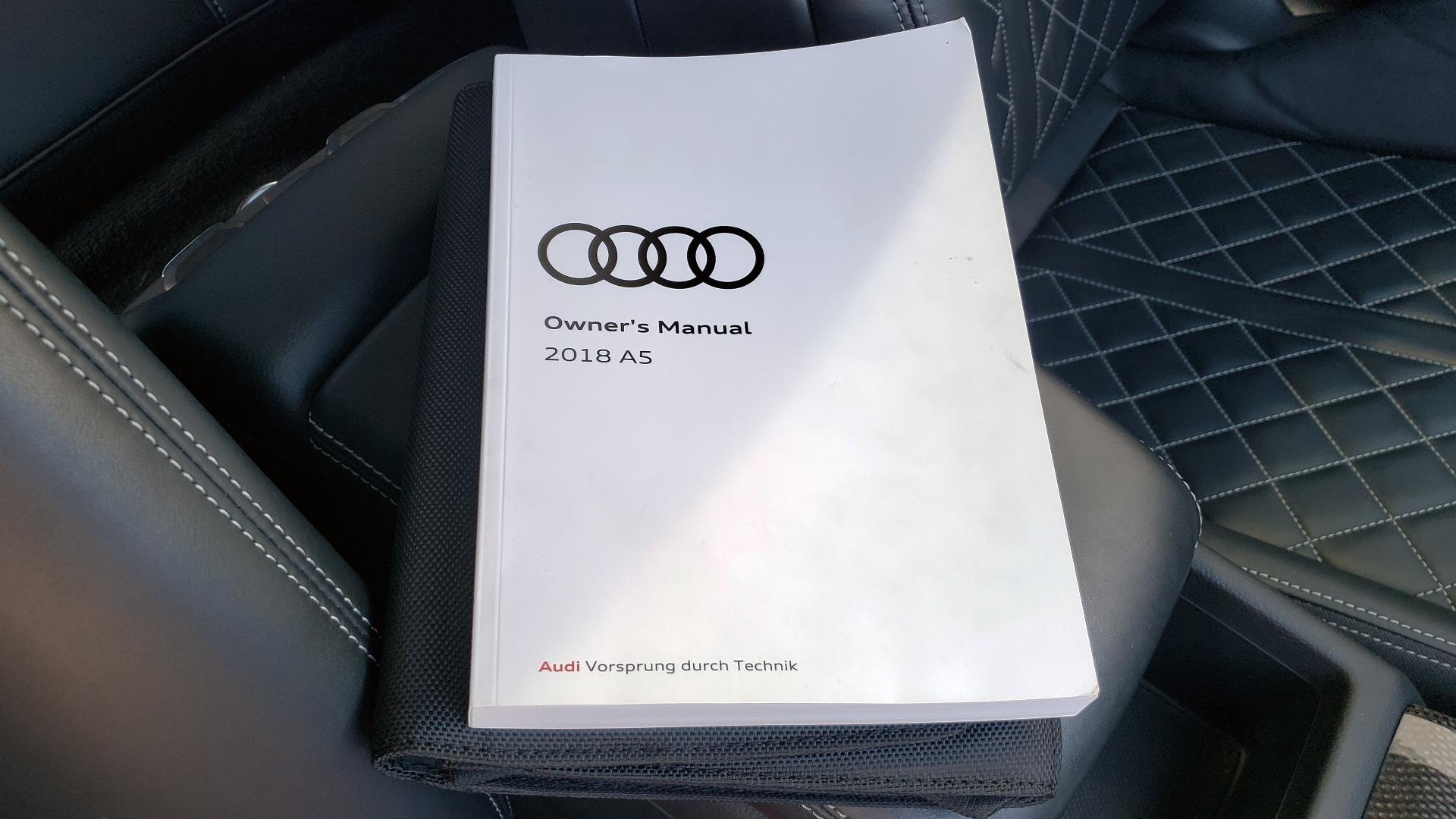 Used 2018 Audi S5 SPORTBACK PRESTIGE S-SPORT / NAV / SUNROOF / HUD / B&O SND / REARVIEW for sale $48,995 at Formula Imports in Charlotte NC 28227 82