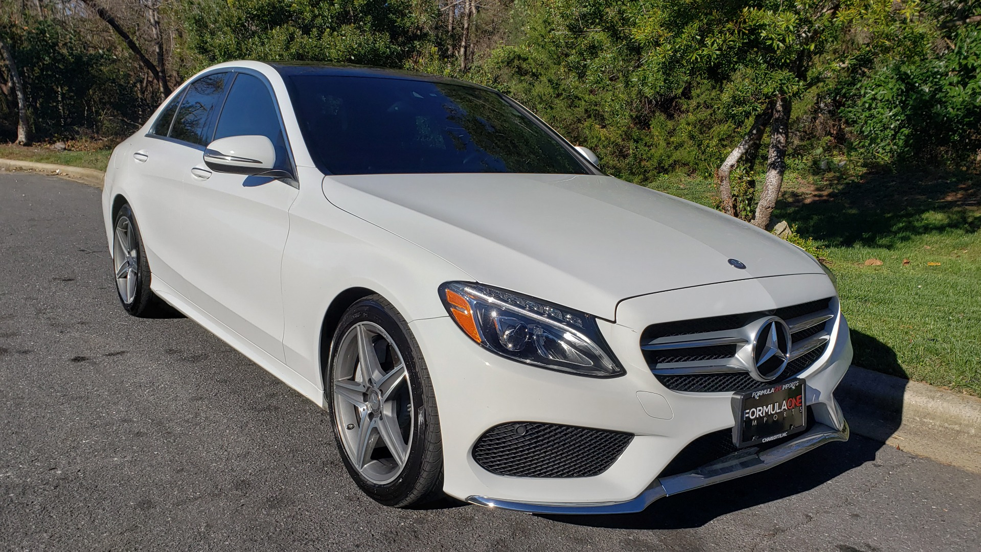 Used 2017 Mercedes-Benz C-CLASS C 300 SPORT / PREM PKG / PANO-ROOF / NAV / HTD STST / REARVIEW for sale Sold at Formula Imports in Charlotte NC 28227 4