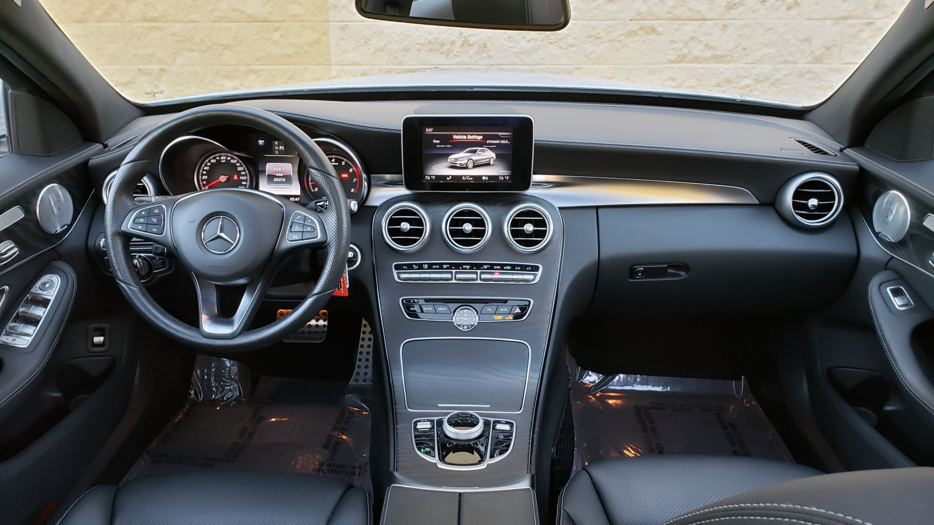 Used 2017 Mercedes-Benz C-CLASS C 300 SPORT / PREM PKG / PANO-ROOF / NAV / HTD STST / REARVIEW for sale Sold at Formula Imports in Charlotte NC 28227 70