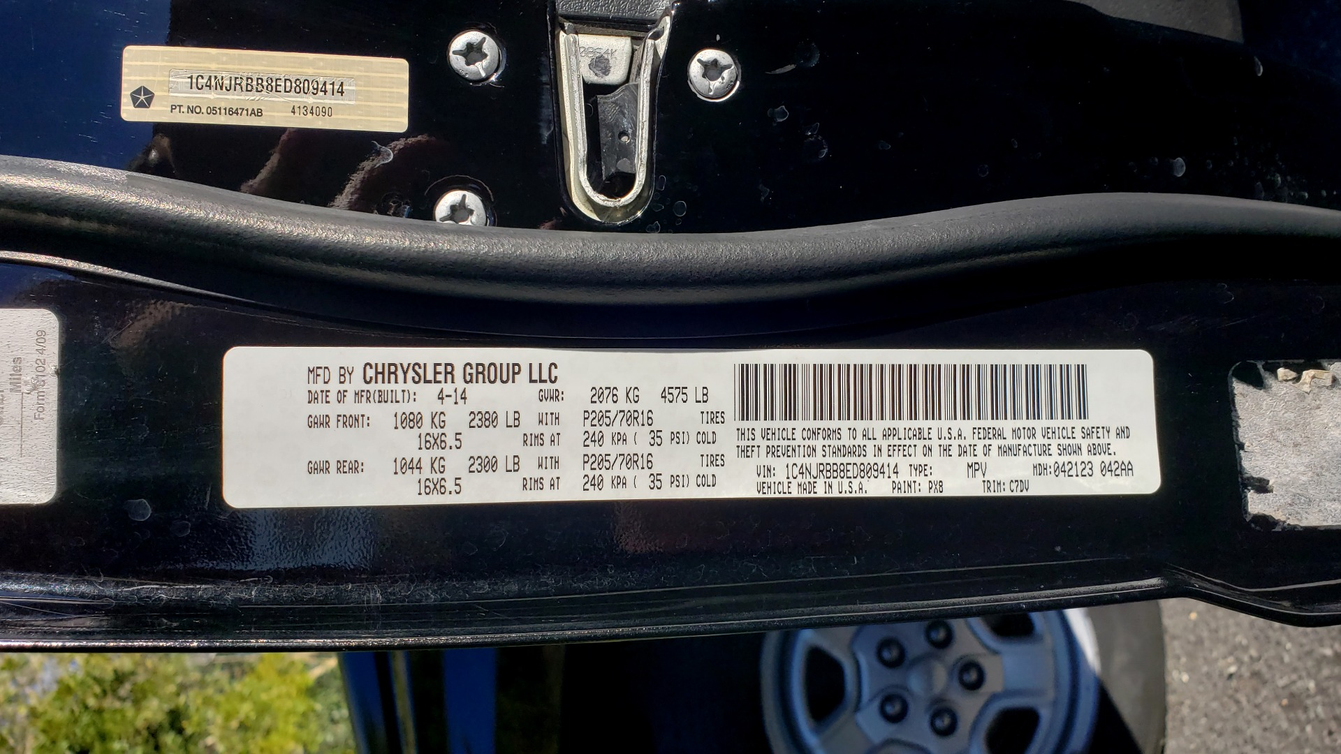 Used 2014 Jeep PATRIOT SPORT / 4WD 4-DR / POWER VALUE GRP / 4-CYL / 6-SPD AUTO for sale Sold at Formula Imports in Charlotte NC 28227 73