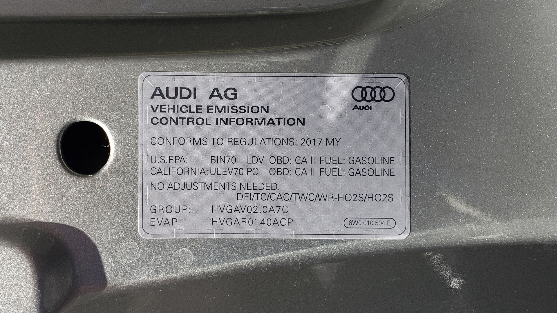 Used 2017 Audi A4 PREMIUM PLUS / TECH PKG / B&O SND / S-LINE / NAV / REARVIEW for sale Sold at Formula Imports in Charlotte NC 28227 12