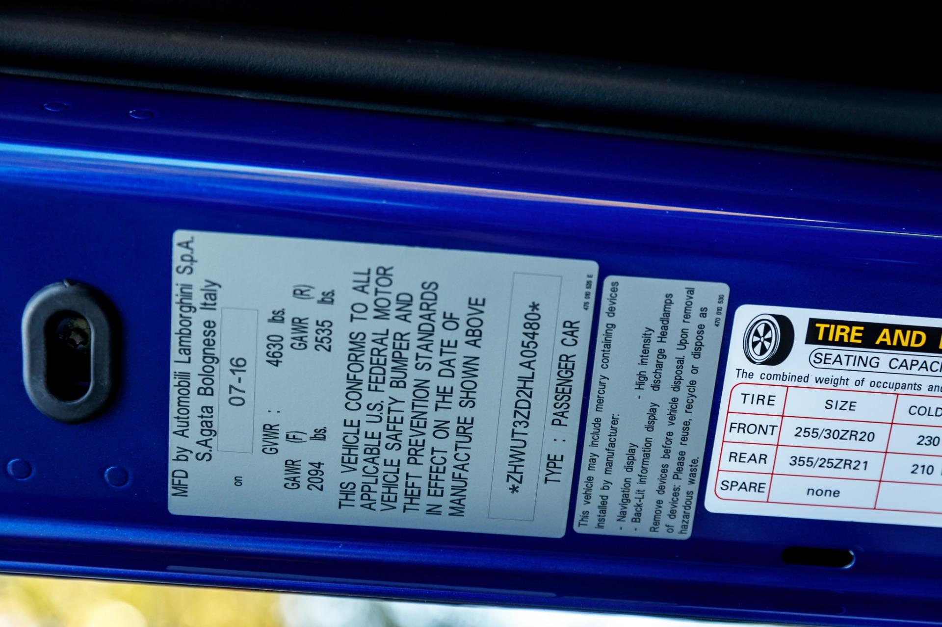Used 2017 Lamborghini Aventador LP 750-4 SV / 740HP / AWD / 1930 MI / NAV / CAMERA for sale Sold at Formula Imports in Charlotte NC 28227 84
