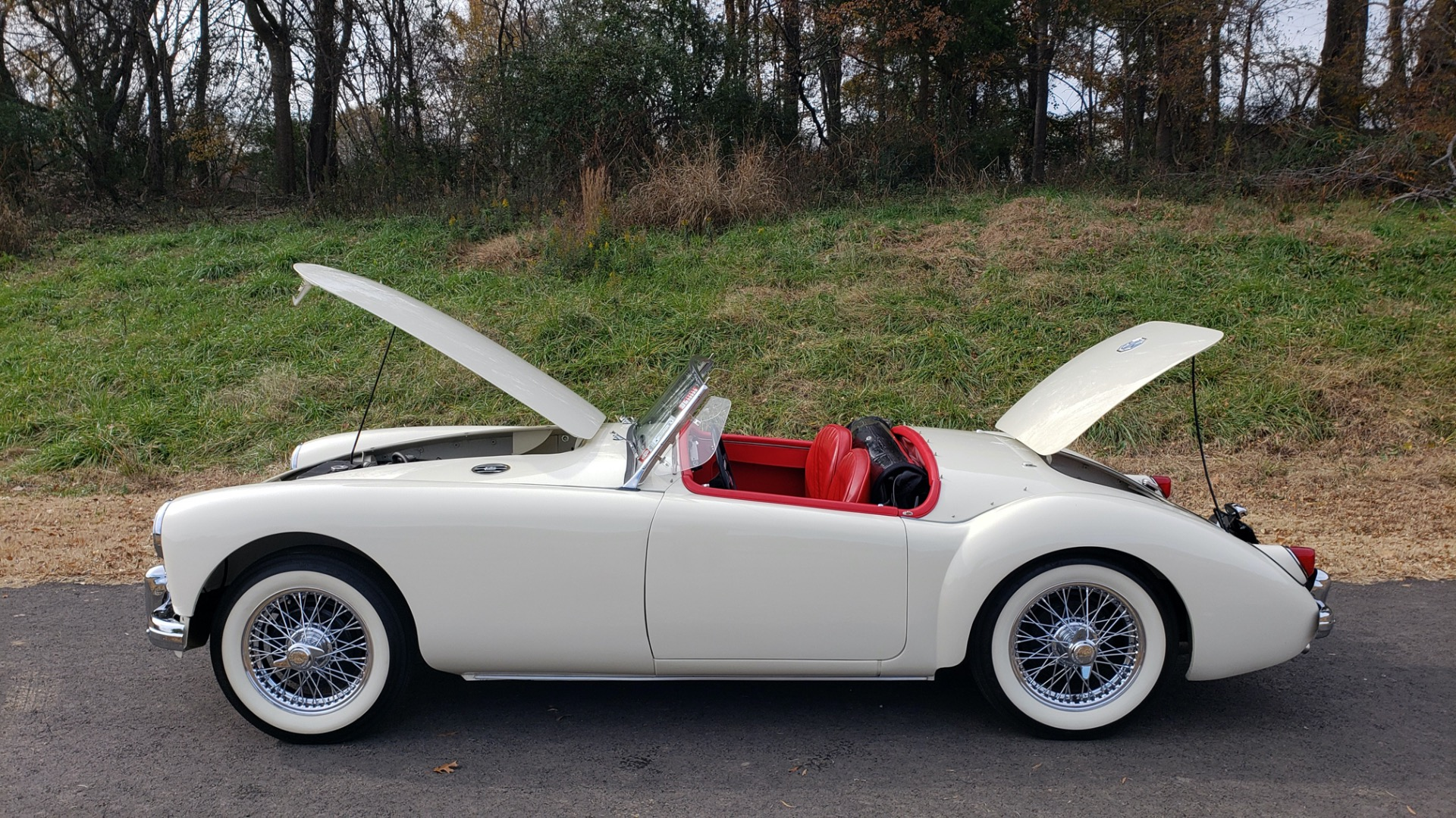 Used 1956 MG A ROADSTER / 4-SPD MAN / FULLY RESTORED / ALL NEW / SHOWROOM CONDITION for sale Sold at Formula Imports in Charlotte NC 28227 32
