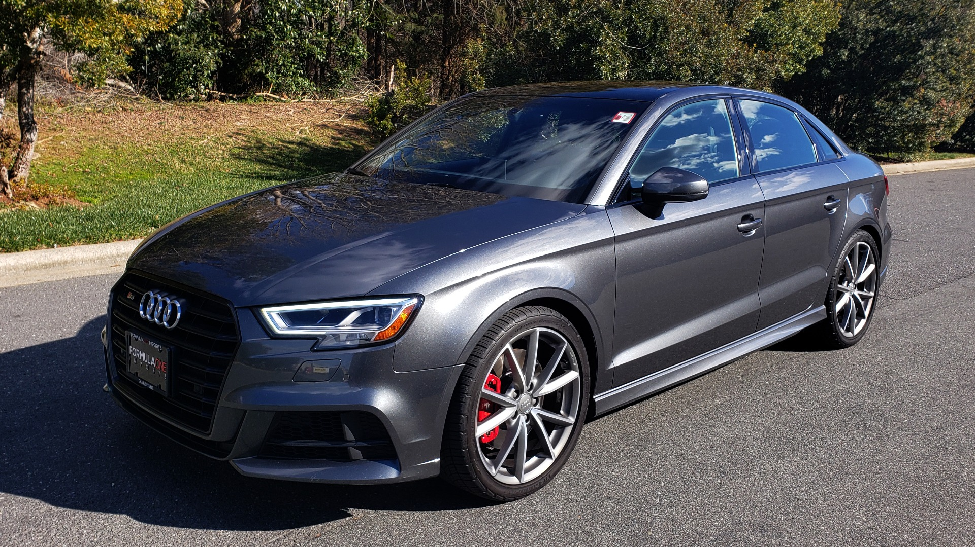 Used 2018 Audi S3 PREMIUM PLUS / TECH / NAV / BLACK OPTIC / S-SPORT / REARVIEW for sale $32,995 at Formula Imports in Charlotte NC 28227 1